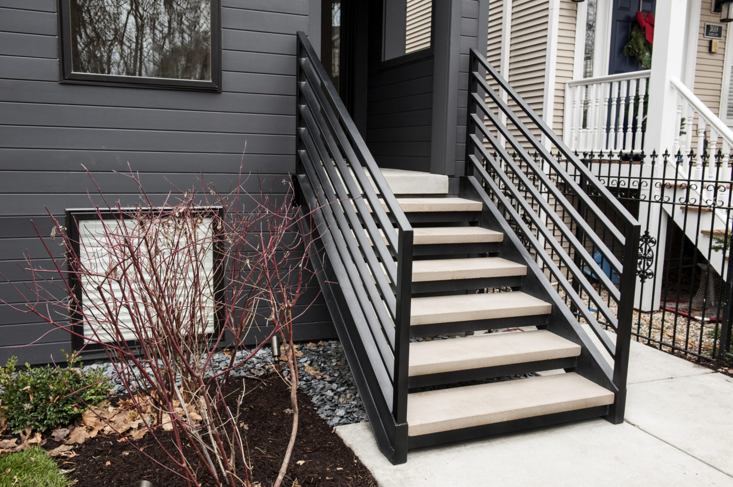Looking For Custom Mid Century Modern Open Riser Straight Stairs Signature Metal Works