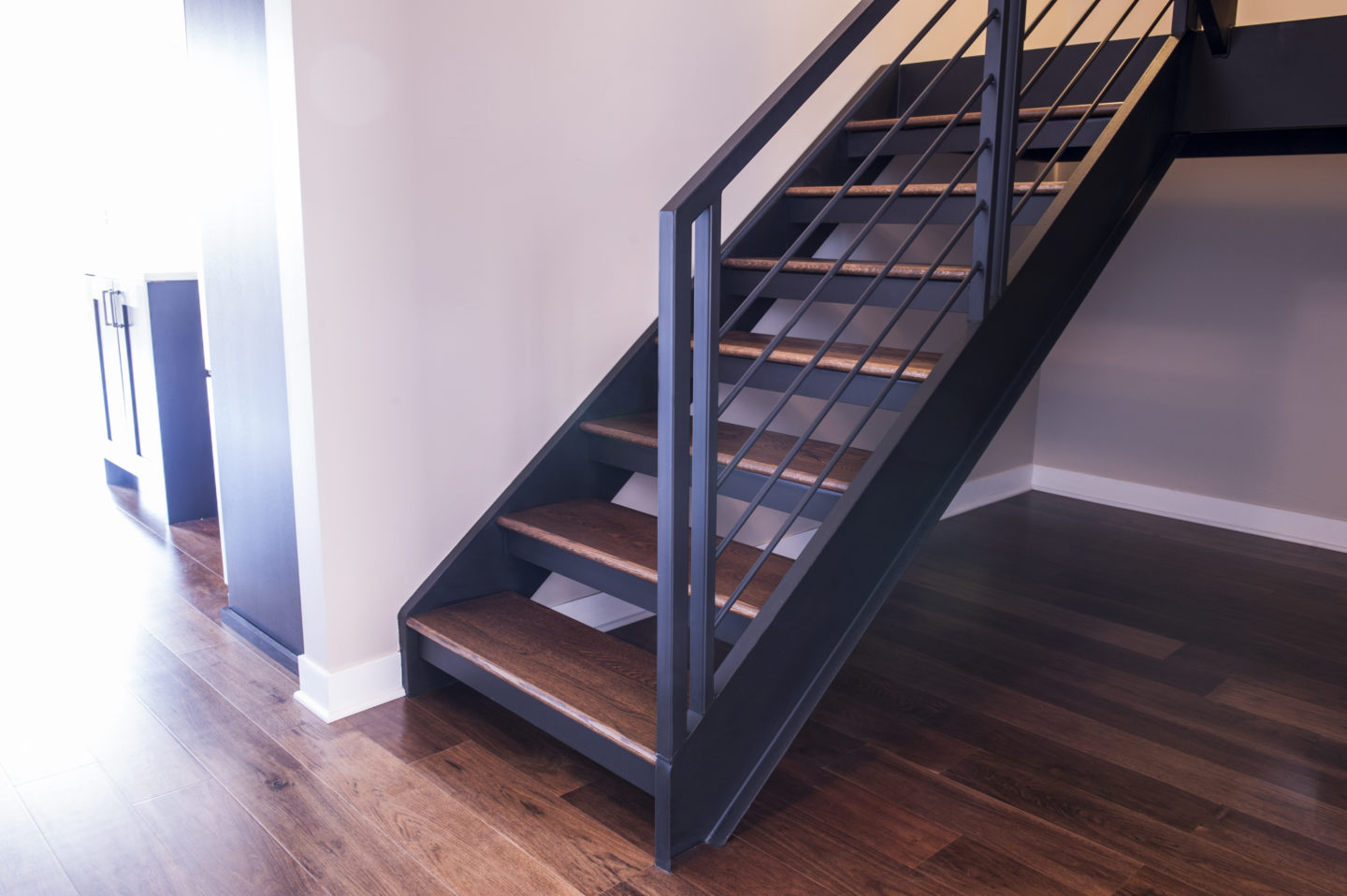 Looking For Custom Urban Modern Open Riser Shaped Stairs